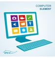 keyboard computer display no effect vector image