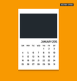January 2015 calendar vector image vector image