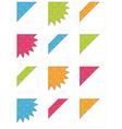 corner ribbons vector image vector image