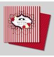 invitation card eps10 vector image