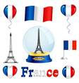 France set vector image vector image
