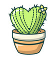heart cactus icon cartoon style vector image