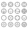 image of tactical sights icons for use on web vector image