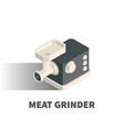 meat grinder icon symbol vector image