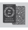 Rustic wedding invitation card set vector image