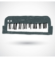 sketch of a keyboard vector image
