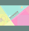 summer with retro style texture pastel color vector image
