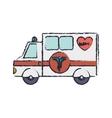 truck ambulance blur with medical symbol vector image