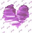 Valentines day heart painted by brush vector image vector image