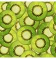 Seamless kiwi fruit pattern Cartoon vector image