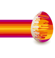 Abstract colorful Easter egg vector image