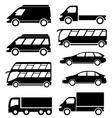 set transport icon on white background vector image