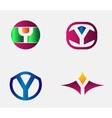 Letter Y Logo alphabet design element vector image