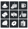 Bath and sauna Accessories Icons Set vector image