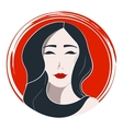 Japanese woman fashion vector image
