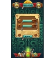 Jungle shamans GUI music options window vector image