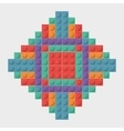 Lego icon Abstract frame figure graphic vector image