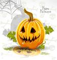 Halloween pumpkin poster vector image vector image