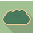 Blackboard Cloud Icon vector image