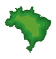 brazil map geography isolated icon vector image