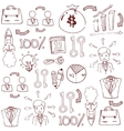 Doodle of business stock collection vector image