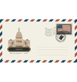 envelope with a postage stamp with Capitol vector image