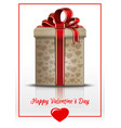 gift box for valentines day vector image