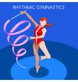 Gymnastics Ribbon 2016 Summer Games 3D vector image