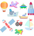 isolated art for game transport vector image