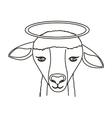 lamb face icon vector image
