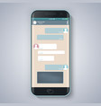 messenger window blank templatesmart phone vector image