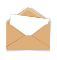 opened envelope isolated on a background flat vector image