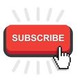 subscribe button icon vector image