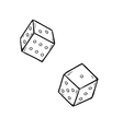 two dices vector image
