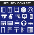 Video surveillance metal and alarm detectors vector image