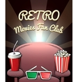Retro Movies Fan Club poster vector image