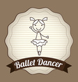 ballet dancer design vector image