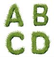 Green Grass Alphabet A B C D vector image