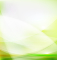 Abstract smooth green flow background vector image vector image