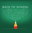 Back to School icons education pencil vector image