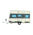 camper trailer vacation travel outdoor image vector image