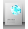 Card with geometric figure Abstract template vector image