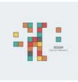Game tetris square template Brick game pieces vector image