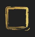 golden grunge vintage painted square shapes vector image