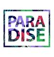 paradise tropical plant print T-shirt vector image
