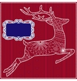 Red background with deer vector image