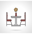 Table for two flat color icon vector image