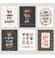 Valentines day hand drawn greetings vector image