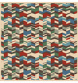 Retro abstract geometric background vector image vector image