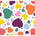 seamless hearts background vector image vector image